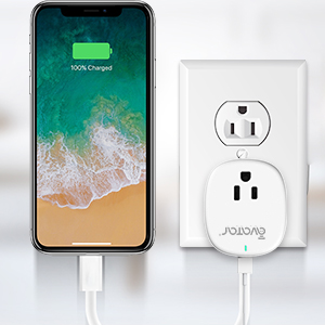smart plug with extra usb charging port