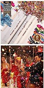 PRIMEPURE Confetti and Streamer Party Cannons