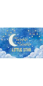 Blue Night Scenery Photography Backdrop Moon Little Star Banner  Vinyl 5x3ft…