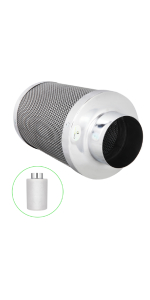 4 inch air carbon filter