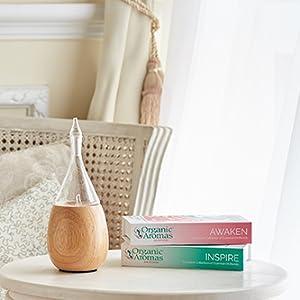 organic aromas light raindrop essential oil nebulizing diffuser