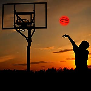 led basketball ball glow dark light-up outdoor night official size glowing luminous basketballs