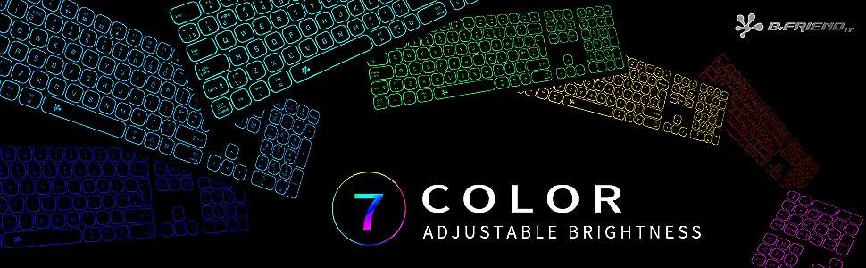 backlit keyboard, led keyboard, lighted keyboard, light up keyboard