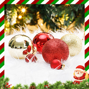 Made of real glass, these Christmas ornaments set is beautiful and luxurious.