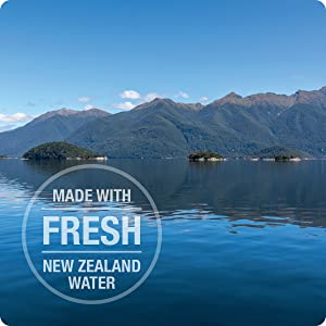 made with fresh new zealand water