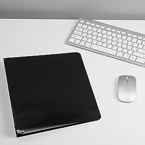 aluminum binder black