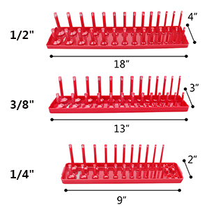 socket organizer trays set rack holder storage drive magnetic socket holders