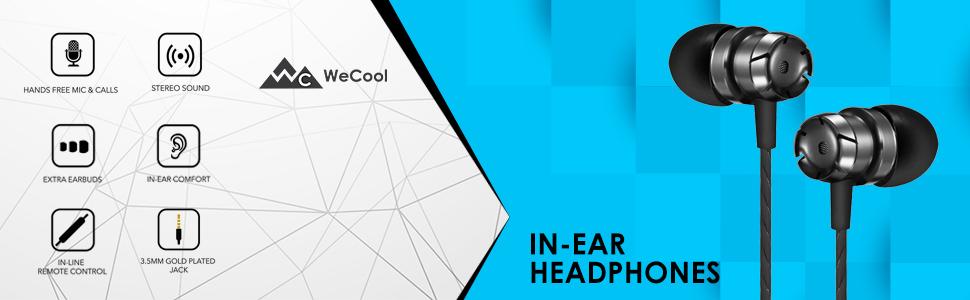 in ear wired earphone