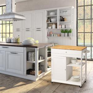 wooden kitchen island cart white for kitchen