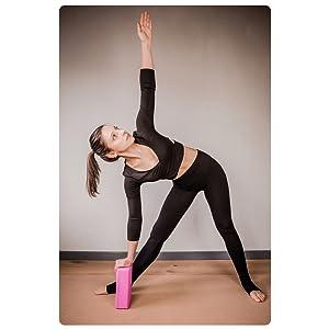 Pilates y Fitness Yogibato Bloques de Yoga Alta duraci/ón y Antideslizante para Meditaci/ón Bloque de Espuma Pack de Dos Dos Unidades Espuma EVA de Alta Densidad