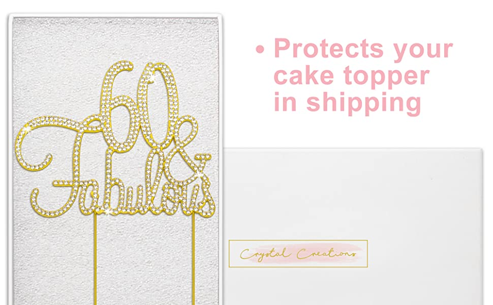 60 and fabulous cake topper