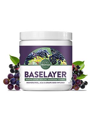 baselayer, truwild, immune, support, antioxidant, supplement, magnesium, zinc, vitamin c, capsules