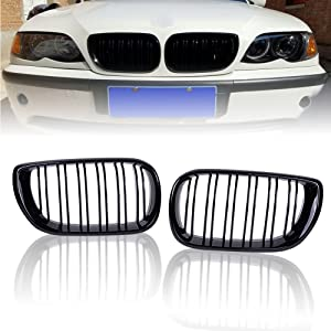 2x Front Bumper Lower Lateral Grille Gril For BMW E46 320i 330i 325xi 2001-2005