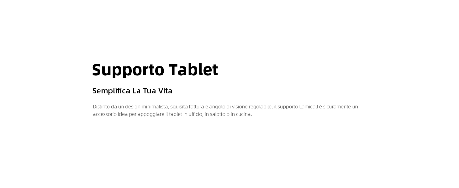 Supporto Tablet