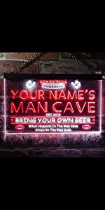 ADVPRO LED neon sign Personalized fonts text dual-color bright light man cave Rugby football game
