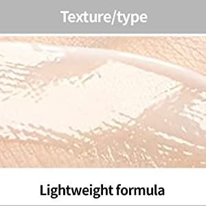 Texture/type, skin with semi-transparent product