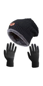 Winter Slouchy Beanie Gloves Set (2 in 1)