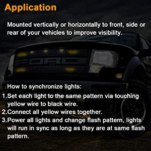 amber grille strobe light for trucks cars snow plow vehicles rural mail delivery van