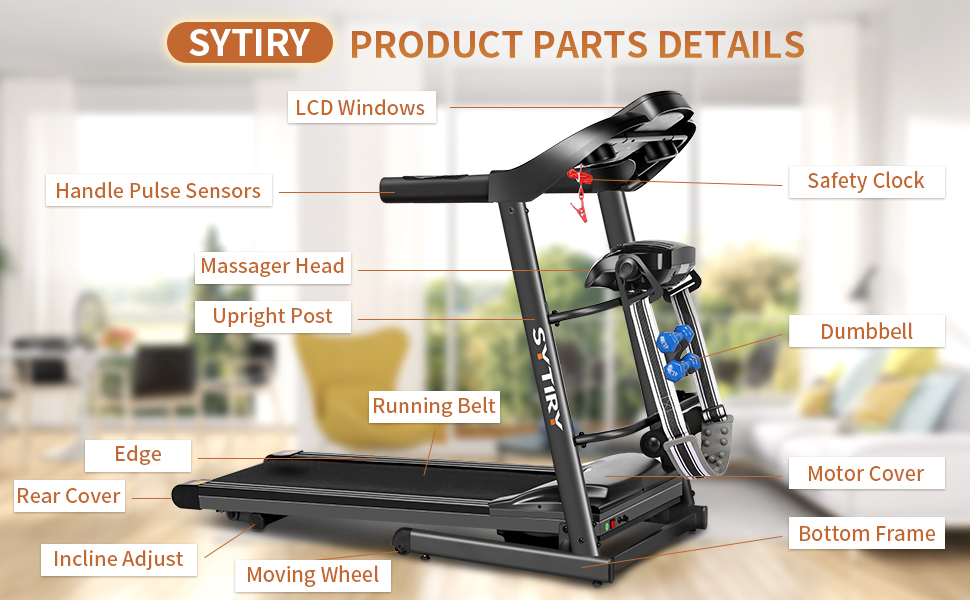 Sytiry multifunctional treadmill parts information