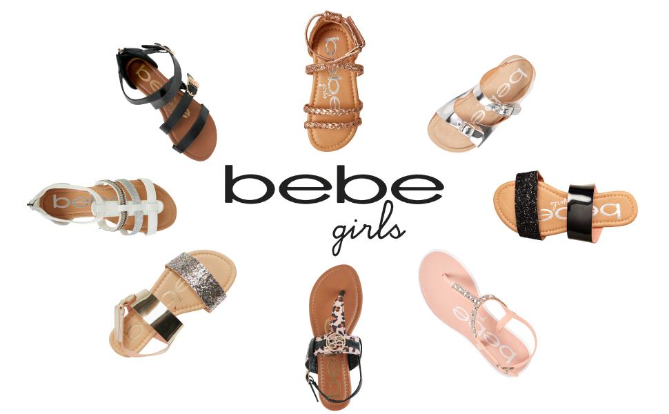 bebe girls sandals circle