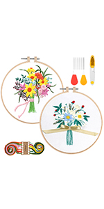 Embroidery Starter Kit with Pattern