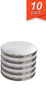 N35//N50 Magnets 1//4inch x 9//125inch Disc Nickel//Copper Neodymium Magnet