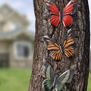 metal wall art decor outdoor butterfly decorations patio garden clearance yard fence
