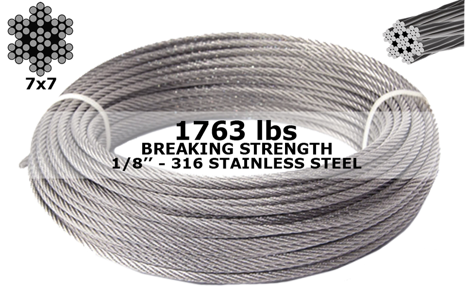 4mm Steel Wire Rope Stainless Rigging 1x Copper Crimp End Stop 3.5mm