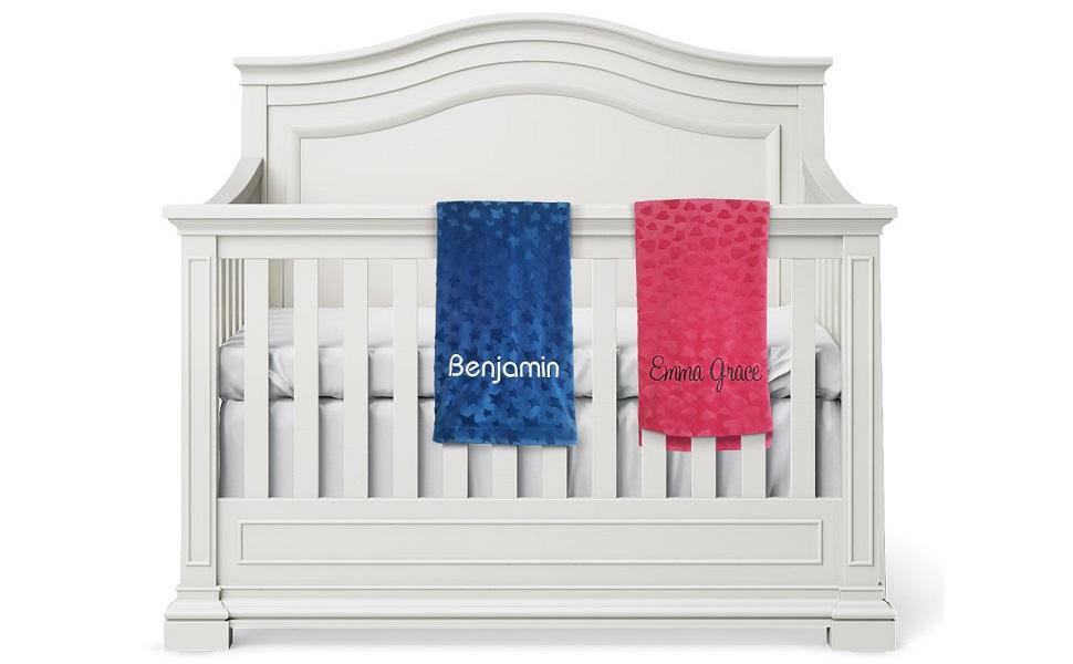 Personalized Baby Blanket, Nursery Bed Blankets Custom Name Blanket
