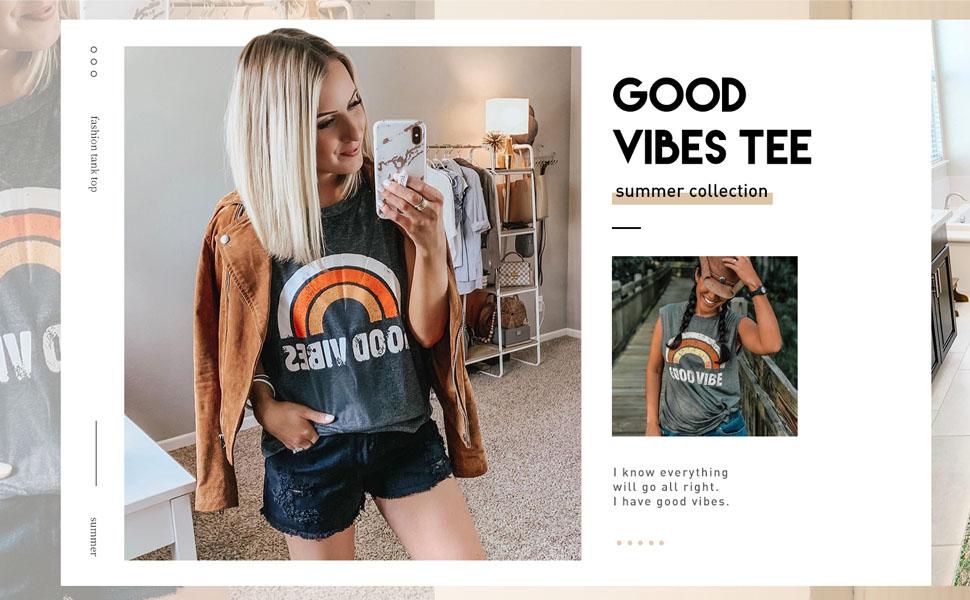good vibes t shirt for women
