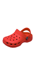 Kids childrens garden clogs lightweight beach shoes holiday sandals comfy slip-on plastic outdoor