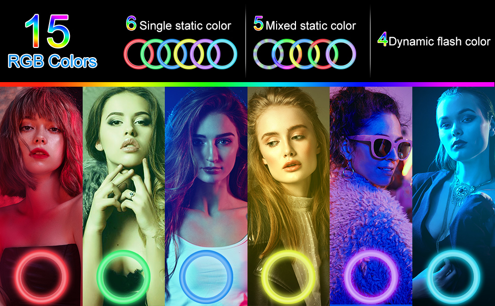 15 RGB-Farben.