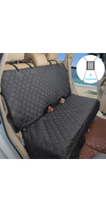 Dog car seat covers for Cars SUVs small Trucks with free safety car dog barrier is good for travel.