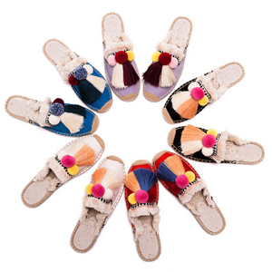 Beautiful and Comfort: Carefully crafted manmade  soft flat slippers for women with anti-skip