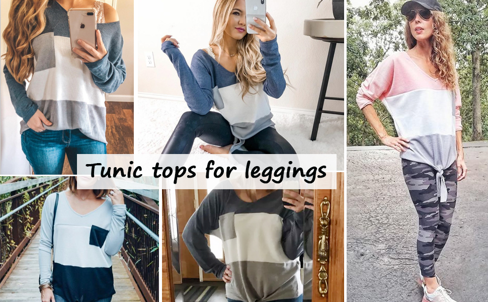tunic tops for leggings for women