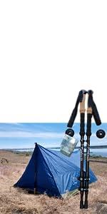 trekker tent 2 large lightweight 3 season outdoors winter fall spring summer camping hiking backpack