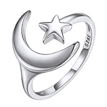 open ring silver