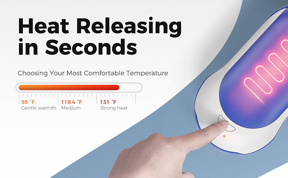 3 adjustable heat settings