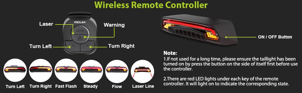 meilan x5 wireless remote control