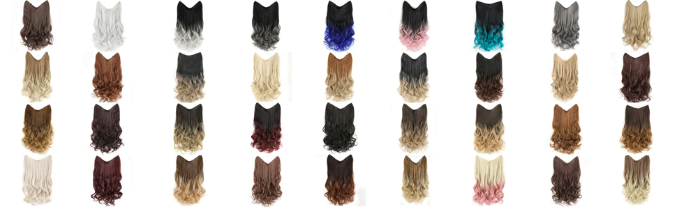 girlshow synthetic halo hair Extensions wigs wavy curly hairpieces ponytail buns scrunchy hair bang