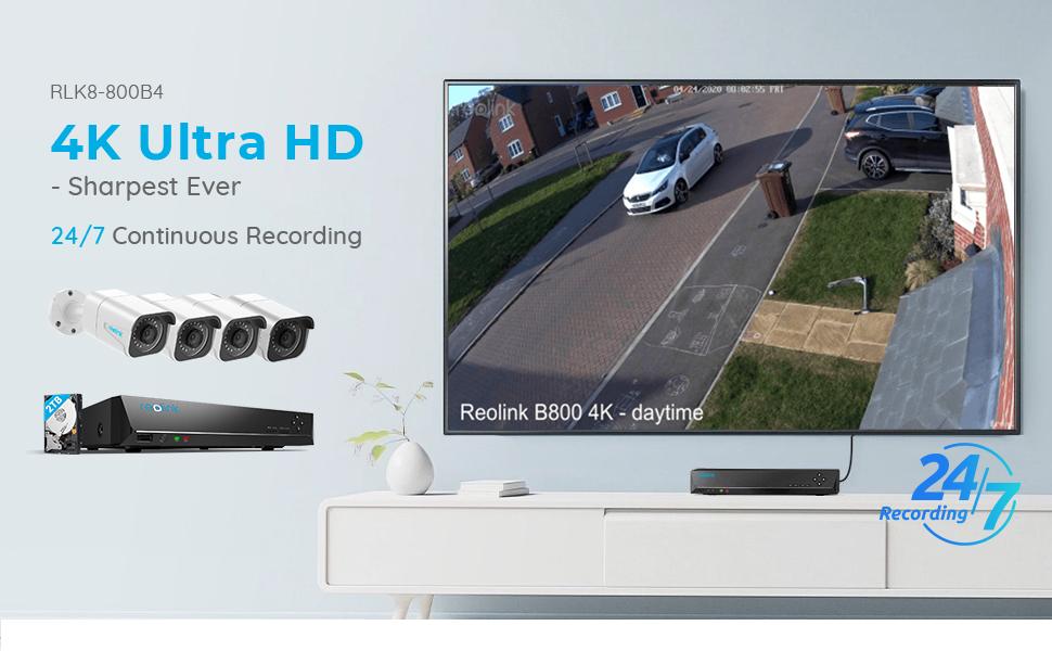 800B4 PoE Security Camera System 4K HD
