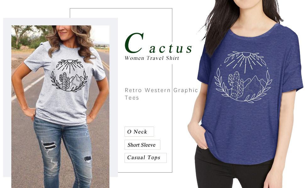 western cactus shirts