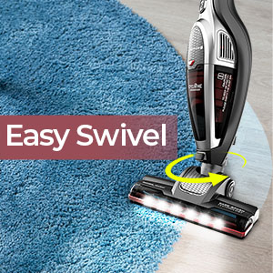 roomie tec cordless upright vacuum cleaner stick with 180 degree highly manuevable floor head