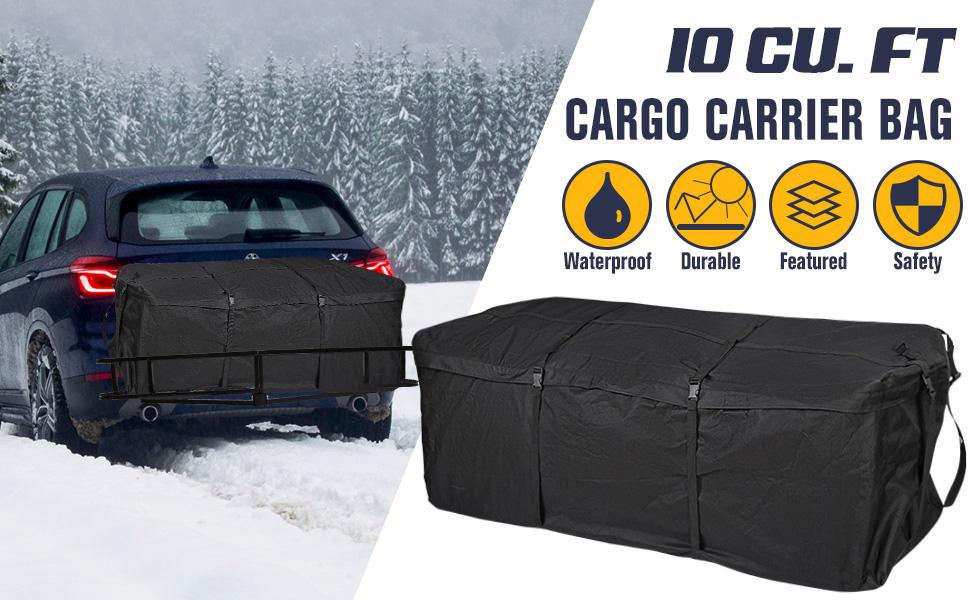 1 Year Warranty 10 Cubic Feet Luggage Storage Bag for Hitch Racks FieryRed Trailer Hitch Cargo Carrier Bag - Waterproof Hitch Tray Cargo Carrier Bag for Vehicle Car Truck SUV Vans