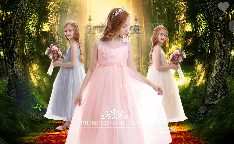 1 Pcs Black Wedding Dress Princess Kids Toys For with White Flower Deco fC