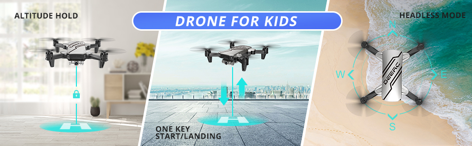 Drone for Kids  DEERC D20 Mini Drone for Kids with 720P HD FPV Camera Remote Control Toys Gifts for Boys Girls with Altitude Hold, Headless Mode, One Key Start, Tap Fly, Speed Adjustment, 3D Flips 2 Batteries eb663f2e 0734 4983 a693 ec49219e061e