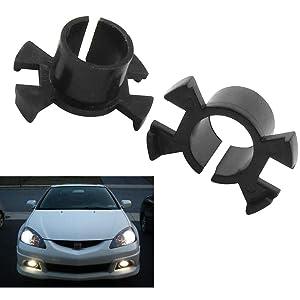 2Pcs H1 Xenon HID Bulb Holder Adapter Base for Honda Civic CR-V Odyssey