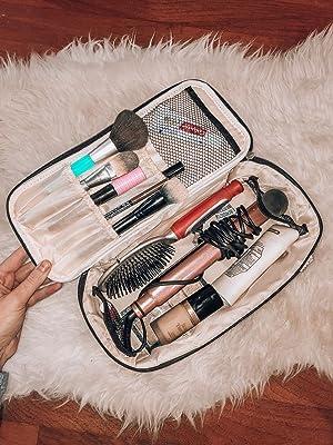 vanity case, large makeup travel bags for women, blow dryer travel bag, makeup palette bag