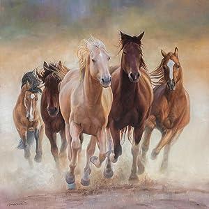 Corriendo caballos salvajes pintando