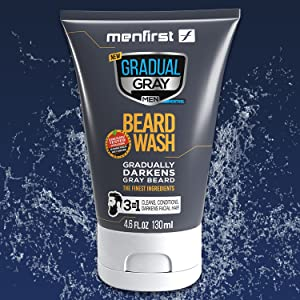 darkening beard wash men facial hair wash clean conditions reduces reduce grey white beard color